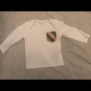 White long-sleeve Burberry shirt